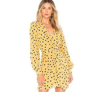 L'Academie The Francesca Mini Dress Yellow Not Dot